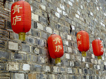Lanterns from ancient town Royalty Free Stock Images