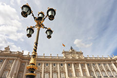 Lanterns in the Baroque style adorn the Palace Royalty Free Stock Image