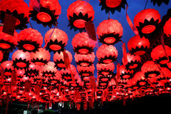 The Lanterns in Bongeunsa Temple stock image