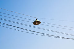 Lanterns on  cables. Stock Image