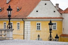 Lanterns in Chateau Valtice, Moravia, Stock Image