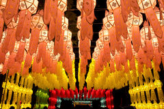 Lanterns in ChiangMai Thailand Royalty Free Stock Photos