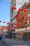 Lanterns in Chinatown, San Francisco royalty free stock photography