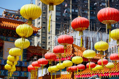 Lanterns at Chinese temple Stock Photos