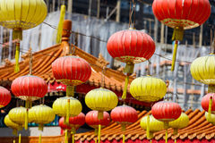 Lanterns at Chinese temple Stock Images