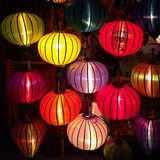 Lanterns. Colorful lantern shop in Hoi Ann Vietnam Royalty Free Stock Images