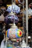 Lanterns in Doha souq. SOUQ WAQIF, DOHA, QATAR - OCTOBER 23, 2017: lanterns on sale in  Souq Waqif, Qatar, Arabia Royalty Free Stock Photo