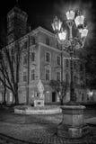 Lanterns of evening Lviv royalty free stock photo