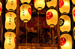 Lanterns and float of Gion festival in Kyoto, Japan. Stock Images