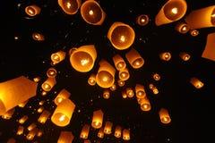 Lanterns floating Royalty Free Stock Photos