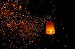 Lanterns floating Royalty Free Stock Images