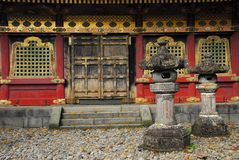 Lanterns in front of a temple building Stock Photography