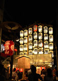 Lanterns of Gion festival, Kyoto Japan in July. Stock Image