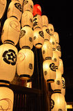 Lanterns of Gion festival night, Kyoto in summer. Stock Photography