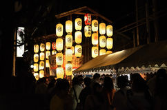 Lanterns of Gion festival in summer, Kyoto Japan. Stock Photo