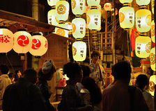 Lanterns of Gion festival in summer, Kyoto Japan. Stock Photography
