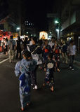Evening of Gion festival in summer, Kyoto Japan. Royalty Free Stock Photo