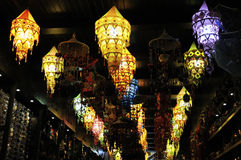 Lanterns and handicrafts Royalty Free Stock Photo