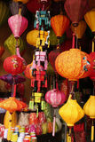 Lanterns. Hanging Lanterns for sale at a market in Vietnam Royalty Free Stock Photos