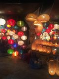 Lanterns in Hoian Vietnam Asia. Beautiful colorful crafts night Royalty Free Stock Images