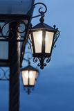 Lanterns at an input Royalty Free Stock Photography
