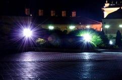 Lanterns inside the Kazan Kremlin royalty free stock images
