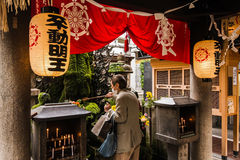 The lanterns in Japanese temple Royalty Free Stock Photo