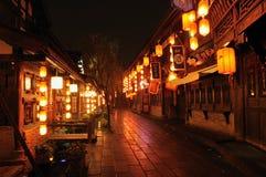 Lanterns of Jinli Promenade Royalty Free Stock Photography