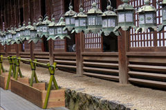 Lanterns in Kasuga Taisha shrine in Nara, Japan Stock Photo
