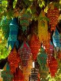 Lanterns in Kusadasi Turkey. Lanterns Hanging from a tree in a market in Kusadasi Turkey Stock Images
