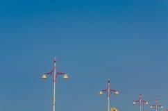 Lanterns, lamps, series, beach Royalty Free Stock Photos