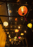 Lanterns. Lighting indoor decoration rooftop Royalty Free Stock Photography