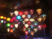 Lanterns market. Colorful acient old town hoian vietnam Stock Photo