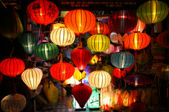 Lanterns at market street,Hoi An, Vietnam Royalty Free Stock Photos