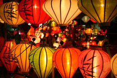 Lanterns at market street,Hoi An, Vietnam Royalty Free Stock Photos