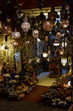 Lanterns in Marrakesh market, night view Stock Photography