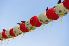 Lanterns at Mid Autumn festival in Garden by The Bay, Singapore.  Royalty Free Stock Photography