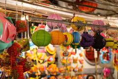 Lanterns in the mid-autumn festival in Vietnamese shop at District 5 , Ho Chi Minh City ( Saigon ), Vietnam Royalty Free Stock Photos