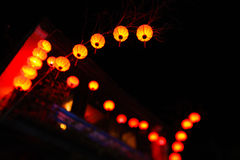 Lanterns during new year celebrations in China. Lanterns glowing, decorations during new year celebrations in China Stock Photos