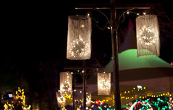 Lanterns in the night. Stock Images