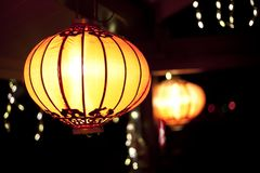 Lanterns at night Stock Photography