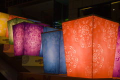 Lanterns at night for chinese new year Royalty Free Stock Photo