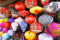 Lanterns at old town shop in Hoi An, Vietnam. Stock Image
