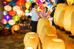 Lanterns at old town shop in Hoi An, Vietnam. Royalty Free Stock Photography