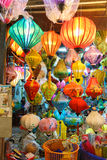 Lanterns at old town shop in Hoi An, Vietnam. Stock Photo