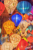 Lanterns at old town shop in Hoi An, Vietnam. Royalty Free Stock Image