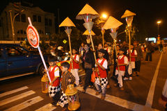Lanterns parade Stock Photo