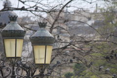 Lanterns in the parc of Paris Stock Photography