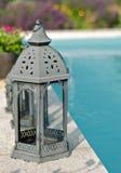 Lanterns at pool Royalty Free Stock Photo