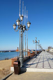 Lanterns on quay, Vladivostok, Russia Stock Image